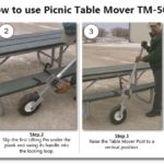 Picnic Table Mover TM Backyard - Picnic table mover